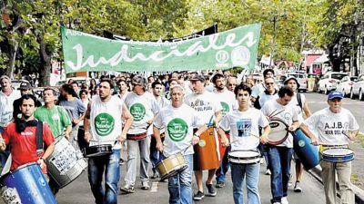 Judiciales bonaerenses no llegaron a un acuerdo y se plegaron al paro de los docentes