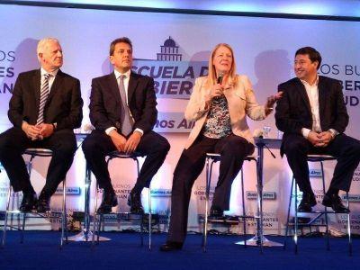 Massa y Stolbizer acompañaron el lanzamiento de una nueva edición de la Escuela de Gobierno en Vicente López