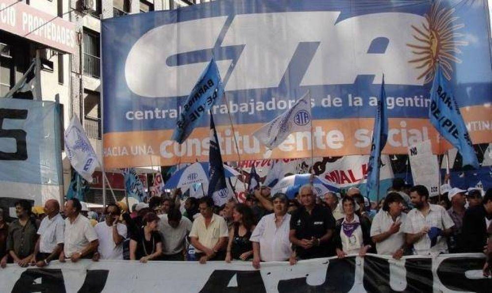 La CTA Autónoma organiza una marcha al Ministerio de Trabajo