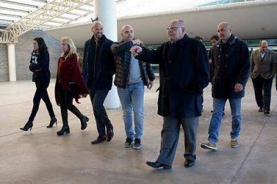 Vuelta del tren a Mar del Plata: Dietrich recorrió la Estación Ferroautomotora