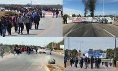 Corte de rutas y protestas tras despidos en UNISOL