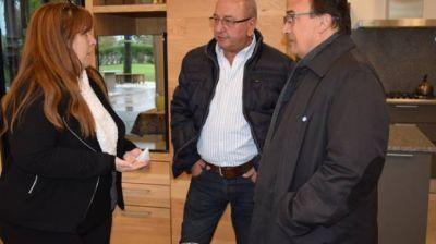 Salomón se reunió en La Plata por el seguimiento de la obra de desagües pluviales