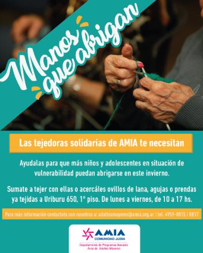 Manos que abrigan: primera entrega de las tejedoras solidarias