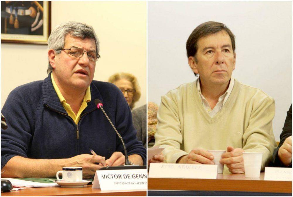 Víctor De Gennaro y Fito Aguirre son los referentes sindicales del Frente Socialista y Popular