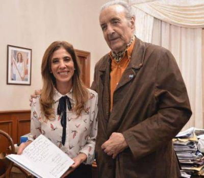 El dirigente justicialista Lorenzo Pepe visitó a la Dra. Claudia de Zamora
