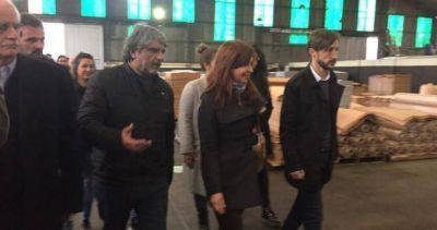 La campaña de CFK comenzó apoyada en su pata sindical