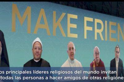 El Papa y líderes religiosos invitan a hacer amistad con personas de otros credos