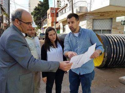 La diputada Verónica Barbieri recorrió obras hidráulicas en Vicente López