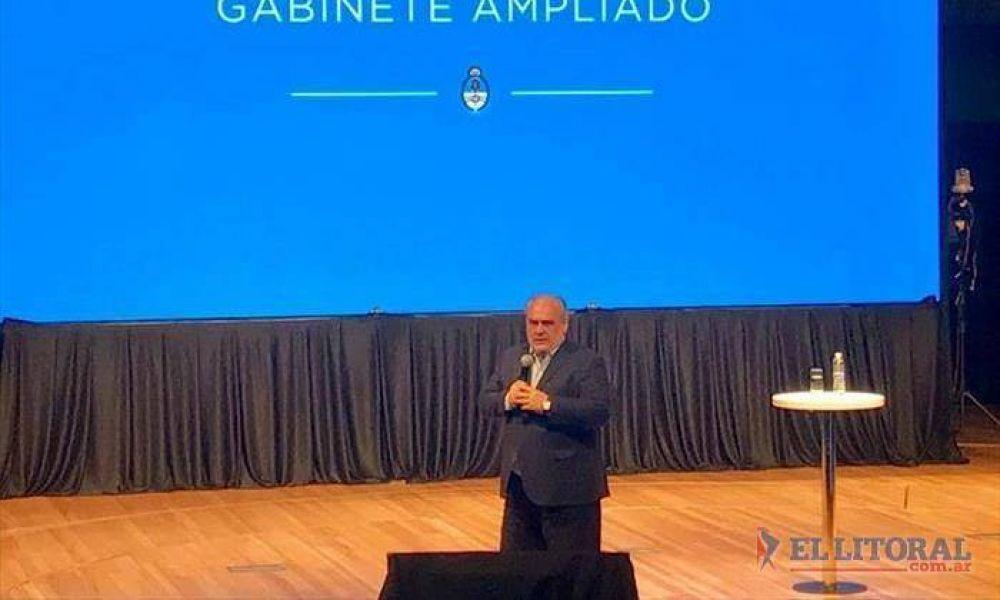 Colombi fue uno de los oradores en una reunión de gabinete ampliado de Macri