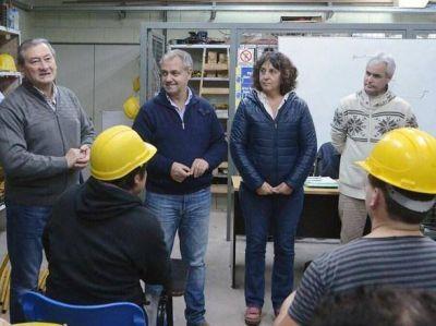 Artime y Branderiz en el Centro de Formación Profesional de la UOCRA