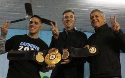 Elecciones 2017: Randazzo visitó La Matanza y se reunió con un joven campeón de boxeo