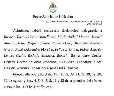 """Citan a 32 ex dirigentes y familiares de Omar """"Caballo"""" Suárez en el marco de la causa por asociación ilícita contra el SOMU"""