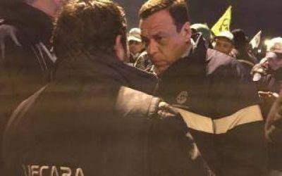 Zárate: Fuerte presencia de Gendarmería en el acampe de Atucha