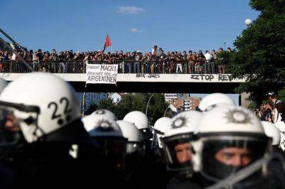 Las protestas contra Macri llegaron hasta Hamburgo