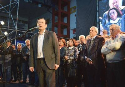 Neder y Zamora participaron de la proclamación de las autoridades de la CGT