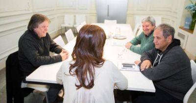 """CFK le dijo a los dirigentes gremiales que Macri """"no escucha movilizaciones"""""""