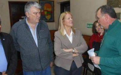 Stolbizer visitó una sala de primeros auxilios en Lomas
