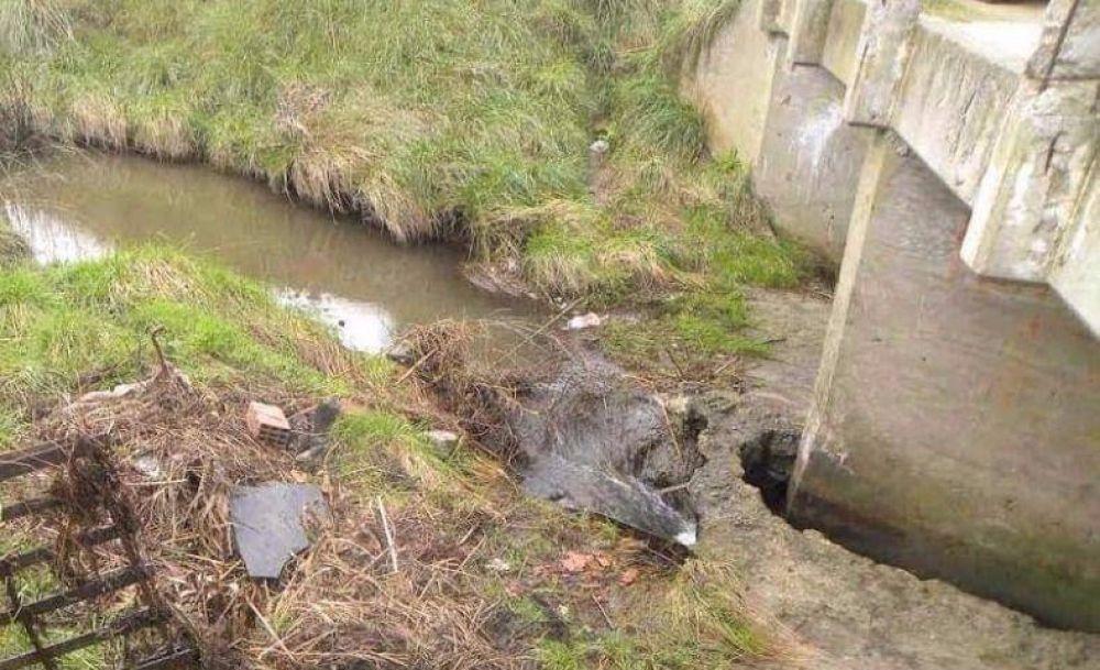 Osse le reclama a la Provincia que limpie los arroyos