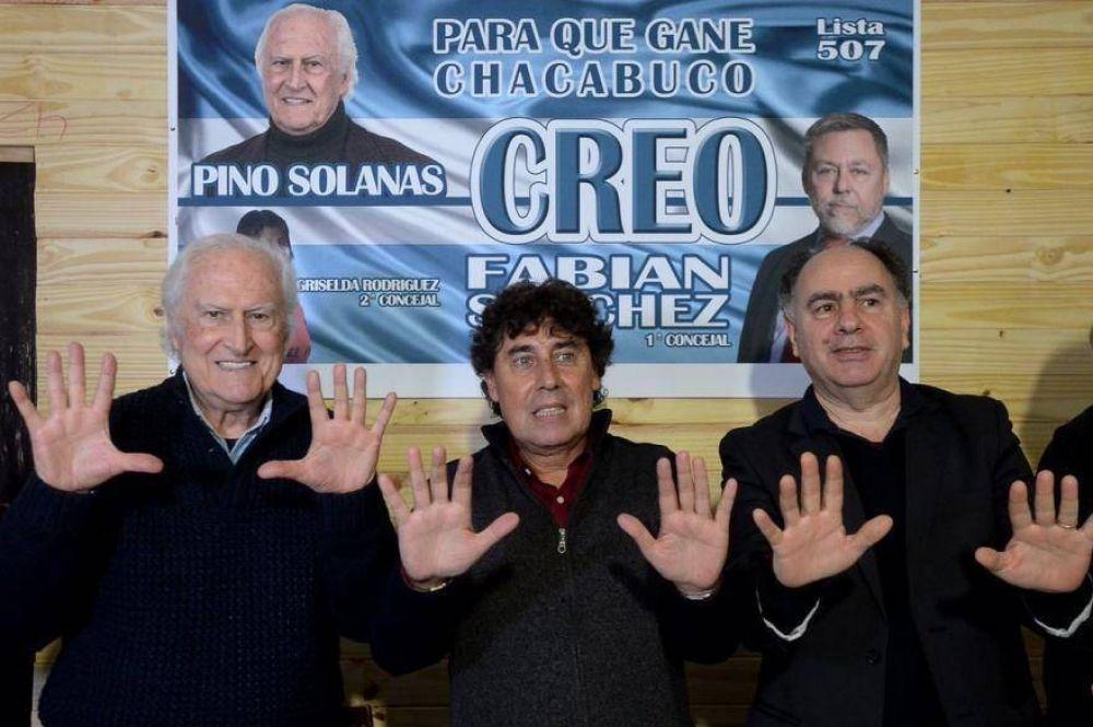 Pino Solanas arrancó su campaña a senador desde Junín