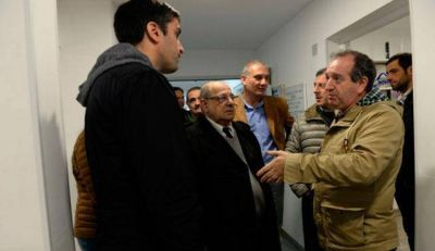 Junto a Manuel Mosca, el Intendente recorrió obras en el CAPS de Alto Camet