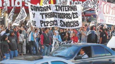 PepsiCo: Sindicatos convocaron a una marcha para el martes