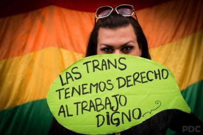 Reclamo por la sanción del Cupo Laboral Trans en San Martín