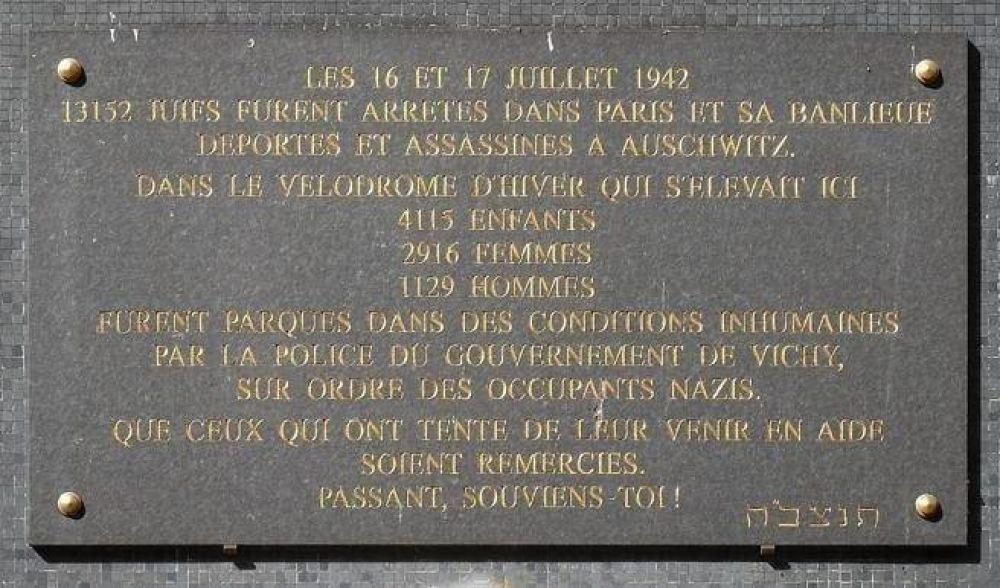 """A 75 años de la """"Redada del Velódromo de Invierno"""", Francia se responsabiliza por los 13 mil judíos deportados"""