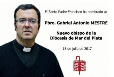 El Papa nombró al P. Gabriel Mestre como nuevo obispo de Mar del Plata