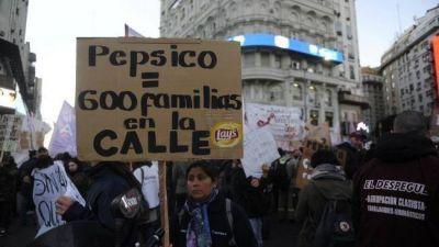 Marcha de los trabajadores despedidos por Pepsico