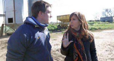 """""""Al productor le aumentaron un 300 % los costos"""", escribió Cristina en Twitter luego de visitar un tambo en Lincoln"""