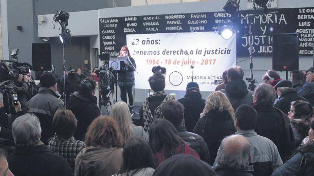Memoria Activa realizó su acto a 23 años del atentado a la AMIA