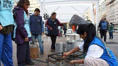 Nueva protesta de las organizaciones sociales: ollas populares y cortes en accesos a la Ciudad