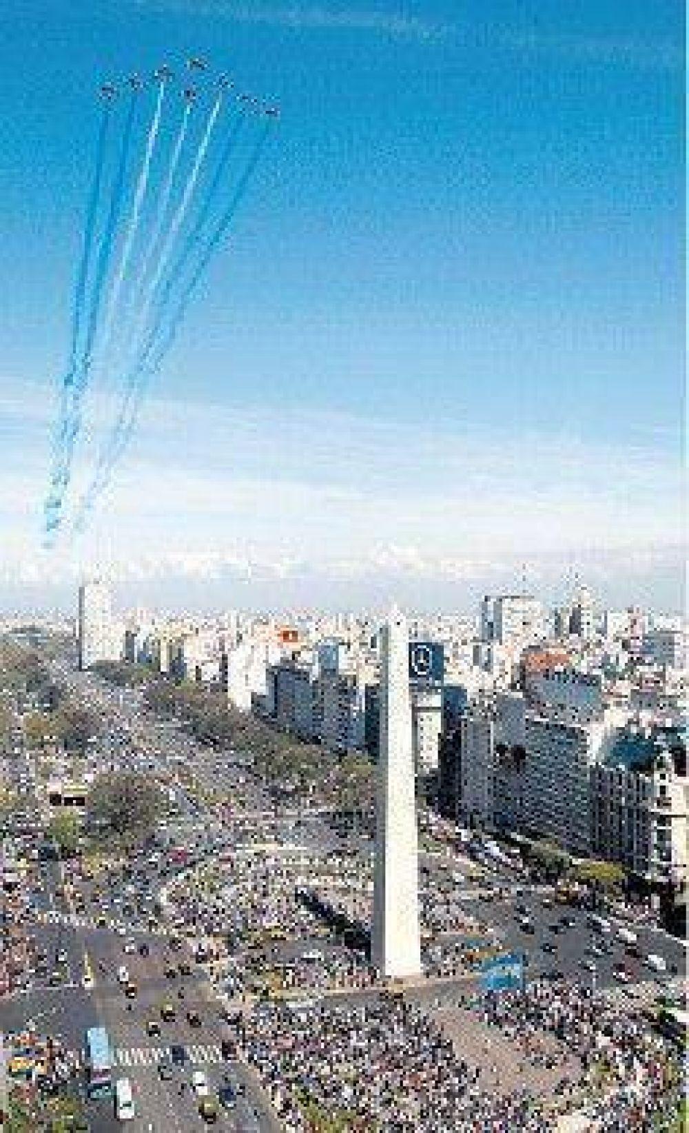 El cielo porteño fue escenario de la destreza de jets franceses