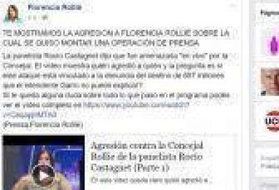La Plata: Rollié durísima contra periodista que la denunció, y promocionó en Face un descargo