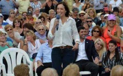 Vidal encabeza un acto en Lanús