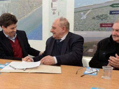 Arroyo y el Subsecretario de Recursos Hídricos firmaron acuerdo por el Acueducto Oeste