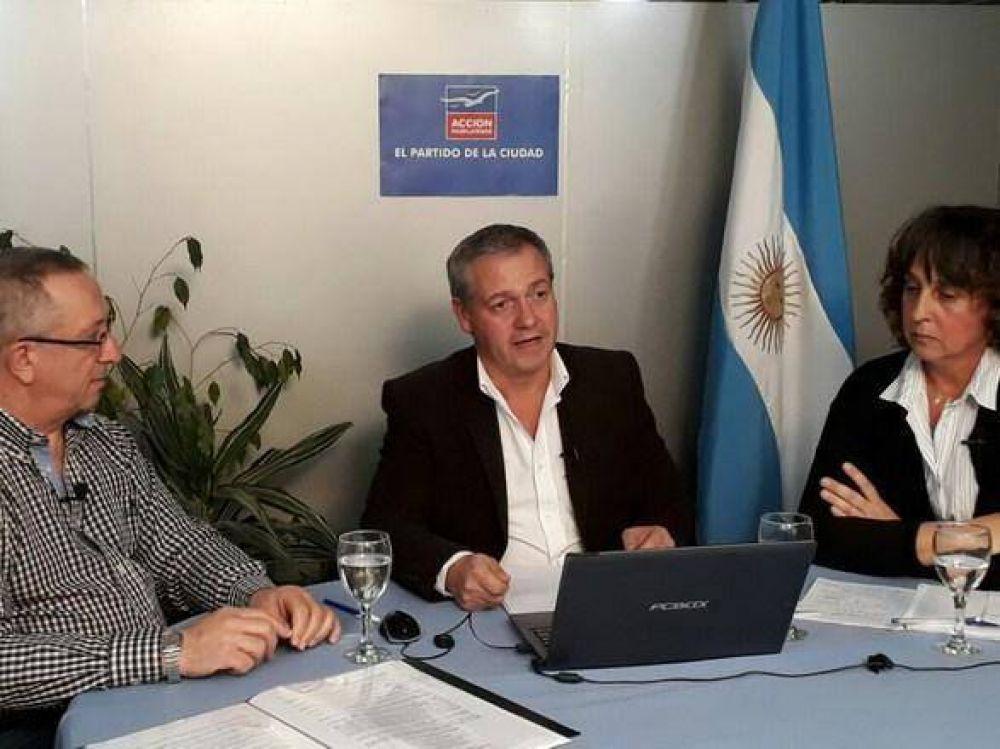 Artime, junto a Branderiz y Morea, respondió en vivo preguntas de los vecinos sobre seguridad