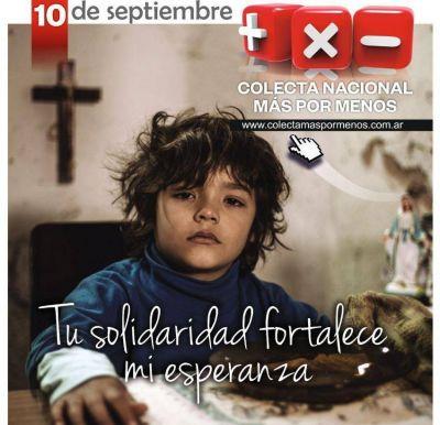 Los días 9 y 10 de septiembre se hará la Colecta Nacional Más por Menos