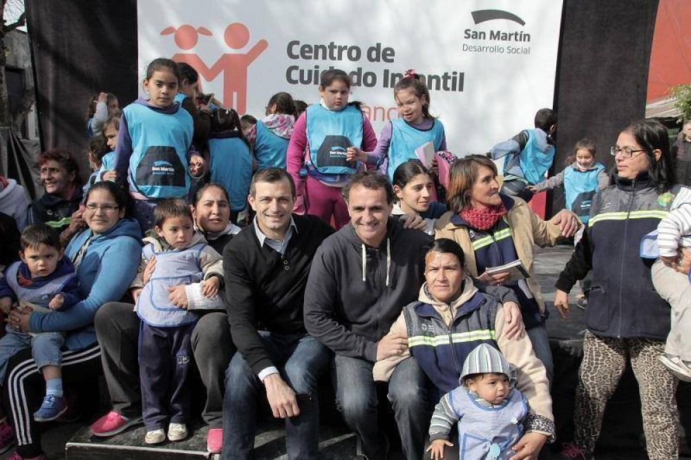 Katopodis inauguró el nuevo edificio del Centro de Cuidado Infantil Tren Blanco