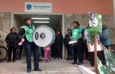 Trabajadores de Salud hacen un paro en los hospitales de toda la provincia