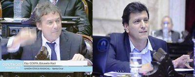 Costa trató al kirchnerismo de corruptos y Gómez Bull le recordó causa por lavado