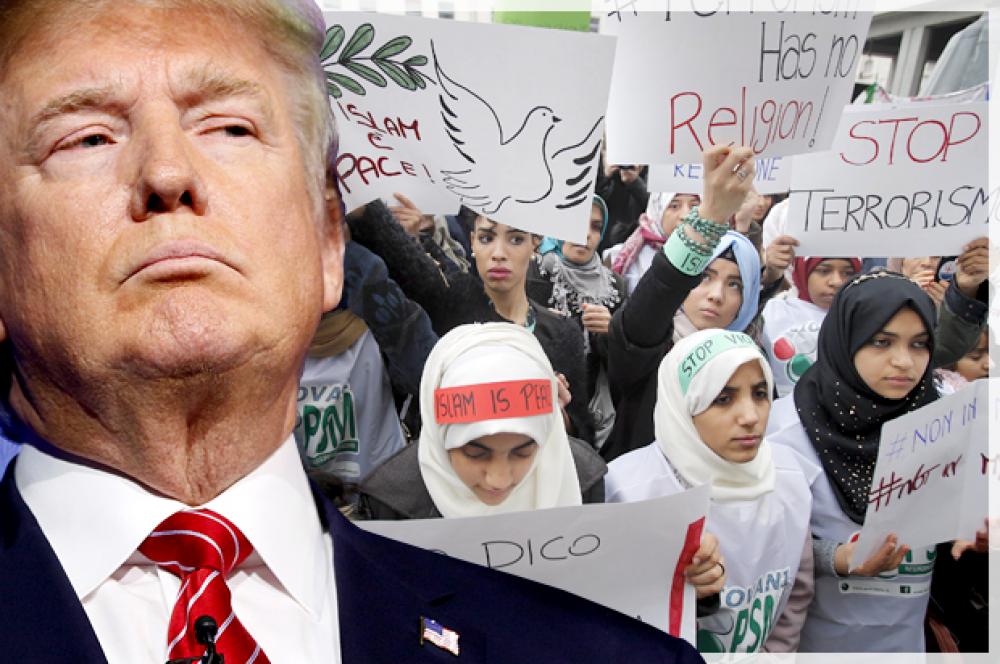 Dos tercios de los musulmanes de EE.UU., insatisfechos con Trump