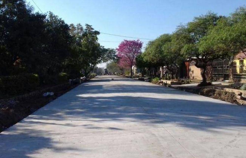 Avanzan obras de pavimento en Sáenz Peña