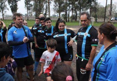 Daniel Scioli y Marcos Gutiérrez recorrieron el barrio Parque Palermo