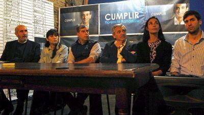 Alberto Fernández vino a apoyar a las dos listas del randazzismo platense