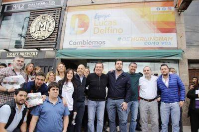 Delfino recorrió Hurlingham con Guillermo Montenegro y Nicolás Ducoté