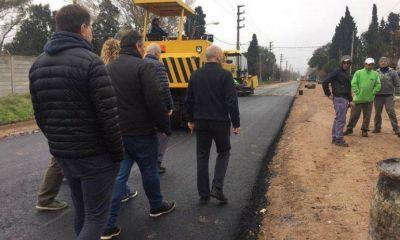 Funcionarios recorrieron las obras de la calle Savio