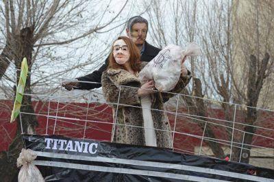Alicia Kirchner y Mauricio Macri en el Titanic