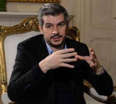 Marcos Peña fue a levantar el ánimo de los intendentes de Cambiemos del conurbano