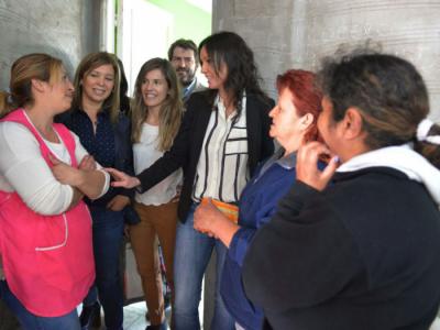 Aprile visitó Bahía Blanca junto a la ministra Carolina Stanley